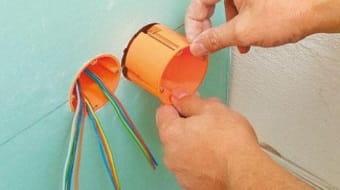 Прокладывание электропроводки